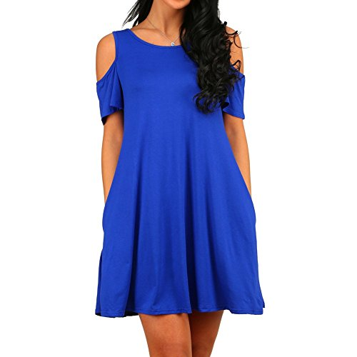 HAOMEILI-Womens-Cold-Shoulder-With-Pockets-Casual-Swing-T-Shirt-Dresses