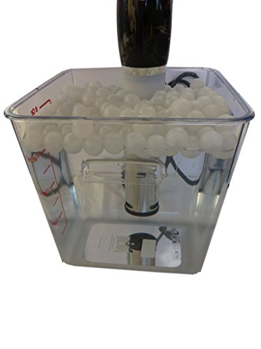 Sous Vide Container and Floating Ball Lid Cover Kit Bundle
