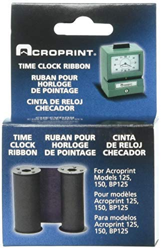 (Acroprint 20-0106-002 Standard 125/150 Blue Ribbon, Blue Time Clock Ribbon For Use With Model 125 and Model 150 Acroprint Time)