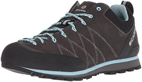 SCARPA Crux-Women's Approach Shoe, Shark/Blue Radiance, 40