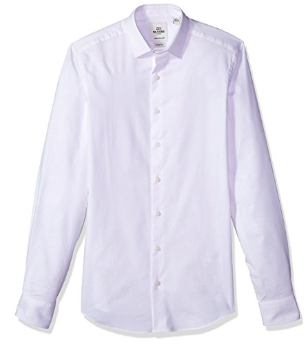 Ben Sherman Men's Stretch Oxford Skinny Fit Dress Shirt, White, 16