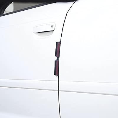 Door Guard Protectors Edge Strips Reflectors Easy Fit Front Or Rear For Hyundai