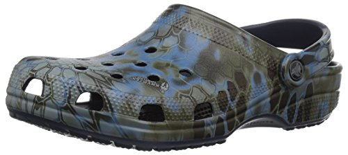 crocs unisex-adult Classic Kryptek Neptune Clog Shoe, navy, 9 US Men / 11 US Women (Red Croc Pattern)