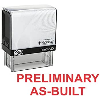 PRELIMINARY AS BUILT Office Self Inking Rubber Stamp