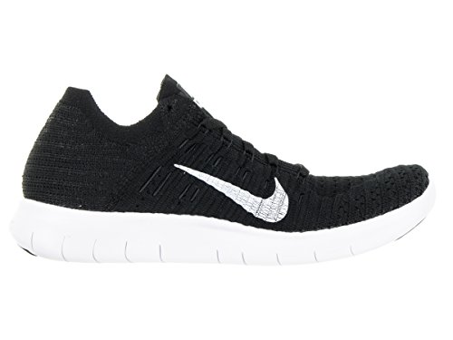 Entrainement NIKE de WMNS Running White Flyknit RN Free Chaussures Black Femme w0wqr