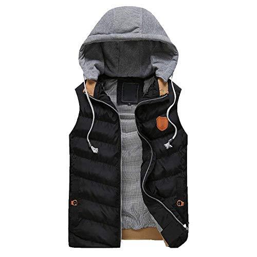 Cappuccio Plus Nero Gilet Ragazzi Jacket Saoye Vest Coat Cotton Giovane E Trapuntato Warm Inverno Autunno Hoodies Fashion Con SPAXqxw1HX