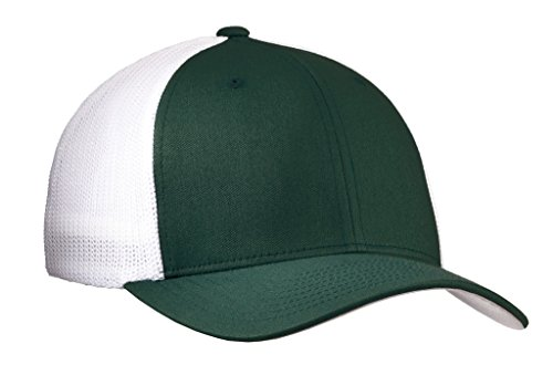 Joe's USA tm Mesh Back Flex-Fit Trucker Style Cap-Forest (Trucker Green)