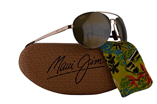 Maui Jim Pilot Sunglasses Gold w/Polarized Bronze Lens - Scratch Maui Warranty Jim
