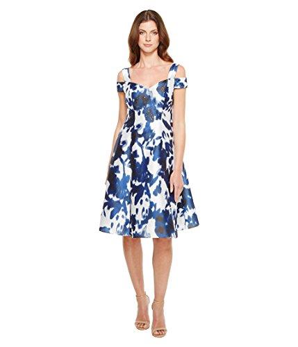 種類ピッチャー主に[アドリアナパペル] Adrianna Papell レディース Iridescent Fit & Flare Faille Dress ドレス Midnight/Ivory 4 [並行輸入品]