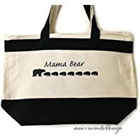 Mama Bear 7 Cub Tote Lightweight Tote Accessory For Mama Mothers Day Best Mom Ever From Kids Cute Bag