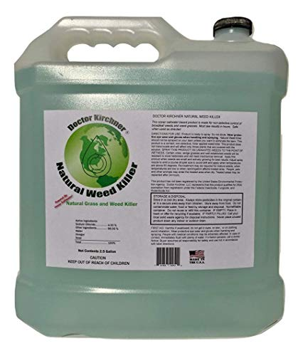 Natural Weed Control - Natural Weed Killer Made with Ocean Water and Commercial Food Grade Vinegar Pet Friendly (2.5 Gallon)