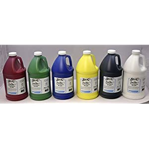 Sax True Flow Heavy Body Acrylic Paint, 1/2 Gallon, Assorted Colors, Set of 6 – 439307