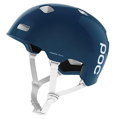 POC Crane Pure (CPSC) Bike Helmet, Lead Blue/Hydrogen White, Medium/Large