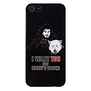 LZXMan with Wolf Pattern Aluminous Hard Case for iPhone 5/5S