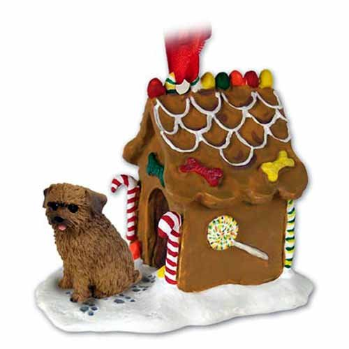(Norfolk Terrier Gingerbread House Christmas Ornament - DELIGHTFUL!)