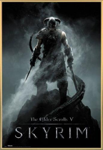 Skyrim Poster and Frame Plastic - The Elder Scrolls V