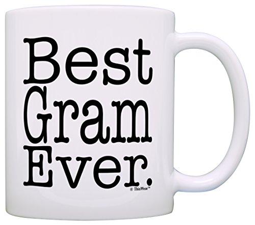 Mothers Gift Grandma Coffee White
