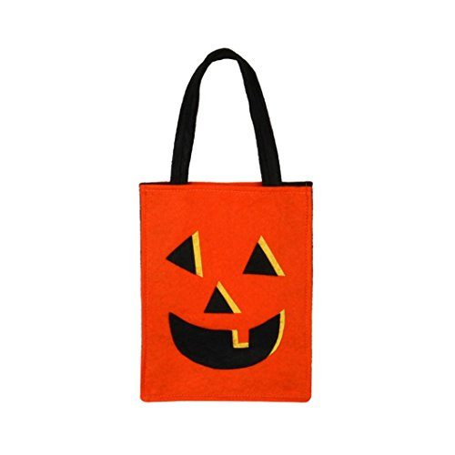 XUANOU Children Halloween Grimace Printed Handbag Devil Bag Children Sweets Bag Bucket