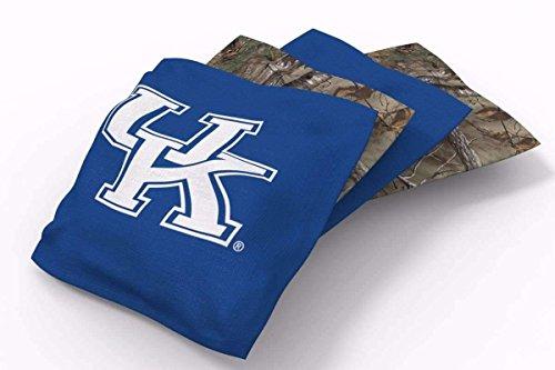 Kentucky Wildcats Bean Bag - PROLINE 6x6 NCAA College Kentucky Wildcats Cornhole Bean Bags - Real Tree Design (A)