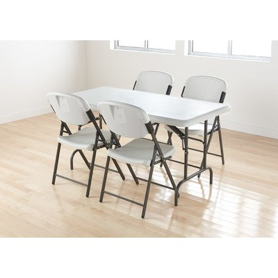 Iceberg 64043 Rough 'N Ready Premium 4-Pack Folding Chair, Platinum (Made in USA)
