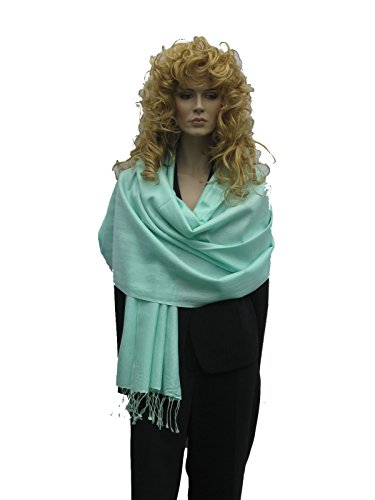 Pistachio Cashmere - Scarf/Shawl/Wrap/Stole/Pashmina Shawl in solid color from Cashmere Pashmina Group (Regular Size) - Pistachio
