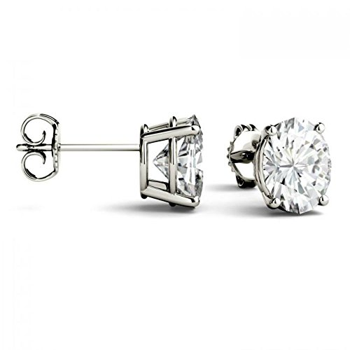 Forever Brilliant 7x5mm Oval Moissanite Stud Earrings, 1.80cttw DEW by Charles & Colvard