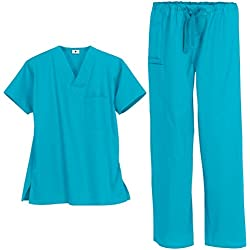 Unisex Medical Uniform Set (XL, Turquoise)