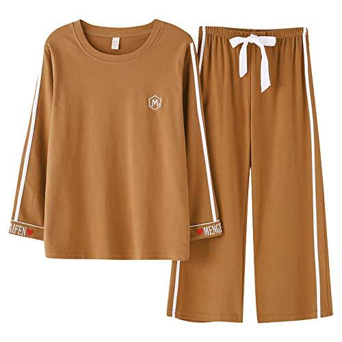 Il A Inverno Da Notte Notte Lunghe Tempo Pantaloni Pigiama Plus Da Puro JYHTG Camicie Size Per Cotone Pigiama Maniche Donna Donna Autunno M Libero Per 5vOxqT