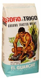 Gofio El Guanche 4 pack, 1 pound each. Ground Toasted Wheat.