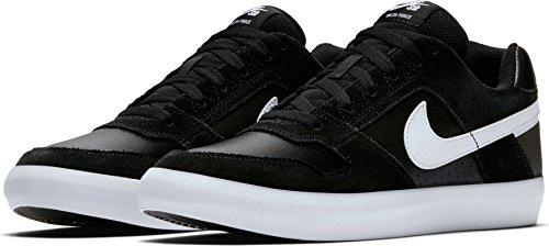 NIKE Men's SB Delta Force Vulc Black/White/Anthracite/White Skate Shoe 12 Men US (Force Mens Shoes)