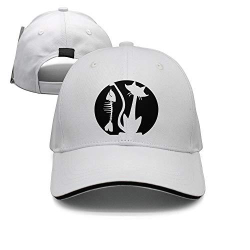 Mens/Women's Halloween cat fish bone pattern pumpkin casual hats for $<!--$20.08-->