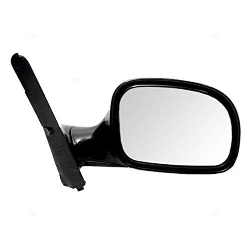 Passengers Manual Side View Mirror Replacement for Dodge Chrysler Plymouth Van (Dodge Van Manual Replacement)