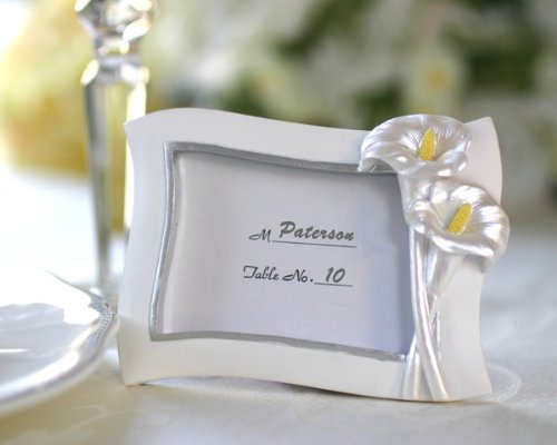 Kate Aspen Decorative Gift Swaying Calla Lily Pearlescent Place Card/ Photo Frame ()
