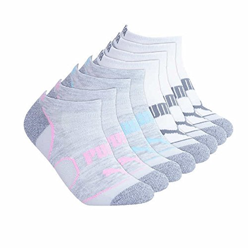 Puma Ladies 8-pair No Show Socks for Women (White) (Puma Socks Women Cushion)