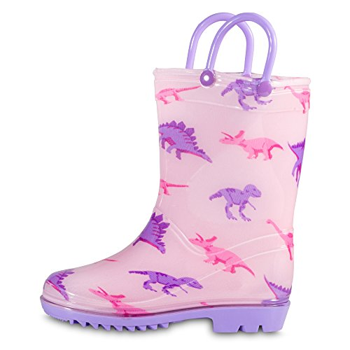 Chillipop Toddler 5-10 Girls Pink Dino PVC Rain Boot, Available in All Kid Sizes by Chillipop (Image #4)