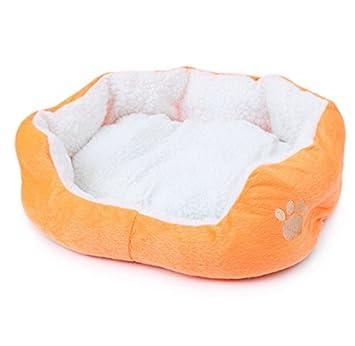 Beauty DIY Mart Nido Cama de Mascotas, Pequena Casa Caliente Suave de Algodon para Perros Gatos Cachorros Conejos,Naranja: Amazon.es: Productos para ...