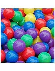 100 كرة ملونة للاطفال من البلاستيك الناعم للسباحة والمرح وتستخدم لخيم الاطفال 2.76