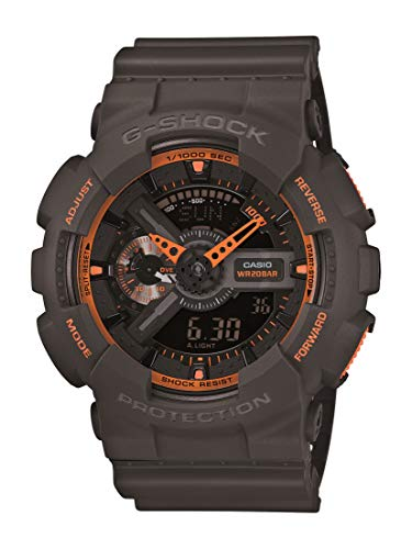 Casio Men GA110TS1A4 GShock AnalogDigital Watch With Grey Resin Band