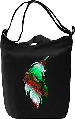 Colourful Feather Borsa Giornaliera Canvas Canvas Day Bag| 100% Premium Cotton Canvas| DTG Printing|