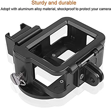 Hesifeng Hsifeng Housing Shell CNC Aluminum Alloy Protective Cage with Insurance Frame /& 52mm UV Lens for GoPro HERO7 Black //6//5 Black Hsifeng Color : Blue