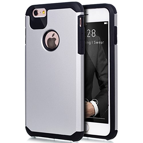 "Price comparison product image iPhone 6S Plus Case,iPhone 6 Plus Case,ikasus Hybrid Heavy Duty Shockproof Full-body Dirtproof Soft Silicone & Hard PC Dual Layer Non-slip Grip Bumper Case Cover for iPhone 6S/6 Plus 5.5"" - White"