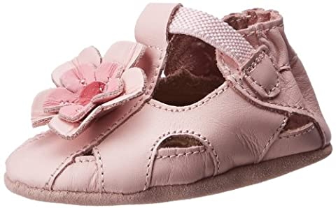 Robeez Pretty Pansy Soft Sandal (Infant),Pink,6-12 Months M US Infant