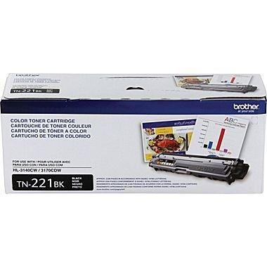 Genuine Brother TN221 (TN-221) Color (BK/C/M/Y) Toner Cartridge 4-Pack (TN221BK, TN221C, TN221M, TN221Y) Brother HL-3140CW, HL-3170CDW, MFC-9130CW, MFC-9330CDW and MFC-9340CDW