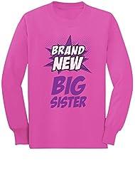 Brand New Big Sister-Superhero Gift Big Sister Toddler/Kids Long sleeve T-Shirt