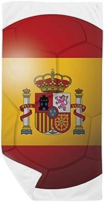 DIYthinker España la Bandera Nacional de fútbol del fútbol Toalla de baño Suave paño de Facecloth 35X70Cm: Amazon.es: Hogar