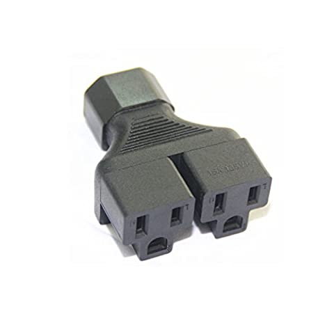 Dshot® C14 to 2 US 3 pin female Power splitter Y adapter,C14 to 2 5-15R (3 To 2 Pin)