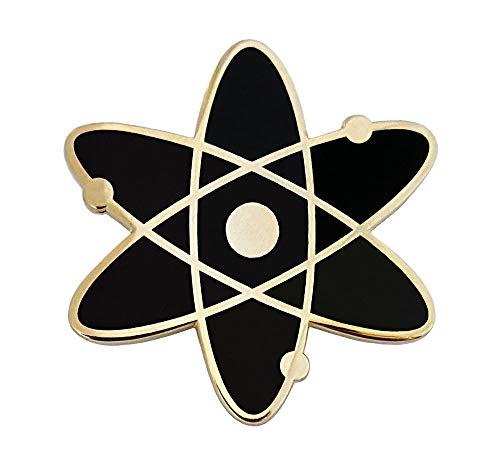 Pinsanity Atomic Symbol Black Enamel Lapel Pin