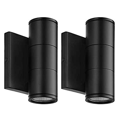 LEONLITE 10W LED Cylinder Up Down Wall Light, Aluminum Finish Waterproof Super Bright Outdoor Wall Lamp, 100V-277V for Decoration on Door Way, Entry, Corridor, Garage, 5 Years Warranty
