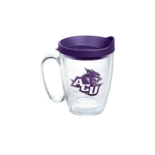 Tervis 1141471 Abilene Christian University Emblem Individual Mug with Royal Purple lid, 16 oz, Clear