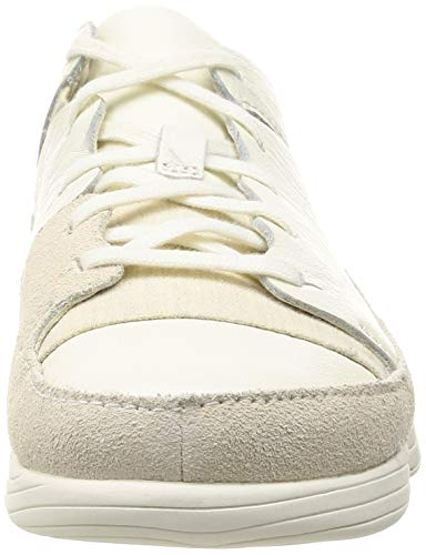 Bianco Sneaker Evo White Uomo Trigenic Leather Clarks Ux1qzfq